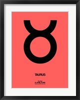 Framed Taurus Zodiac Sign Black