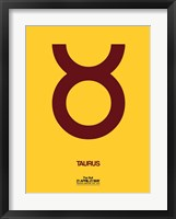 Framed Taurus Zodiac Sign Brown