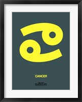 Framed Cancer Zodiac Sign Yellow