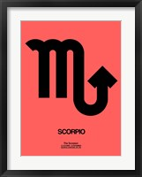 Framed Scorpio Zodiac Sign Black