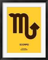 Framed Scorpio Zodiac Sign Brown