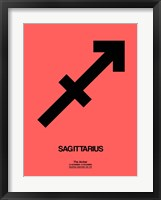 Framed Sagittarius Zodiac Sign Black