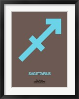 Framed Sagittarius Zodiac Sign Blue