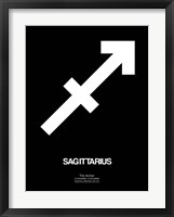 Framed Sagittarius Zodiac Sign White