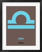 Framed Libra Zodiac Sign Blue