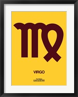 Framed Virgo Zodiac Sign Brown