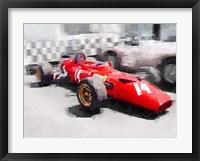 Framed Ferrari 312 Laguna Seca