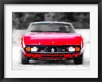 Framed Ferrari 365 GTC4 Front