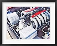 Framed Ferrari 512 TR Testarossa Engine