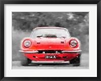 Framed Ferrari Dino 246 GT Front