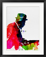 Framed Thelonious Watercolor