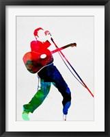 Framed Elvis Watercolor