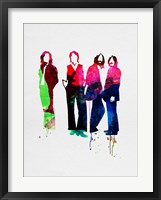 Framed Beatles Watercolor