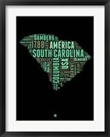 Framed South Carolina Word Cloud 2