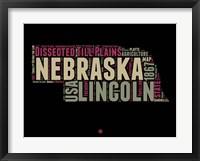 Framed Nebraska Word Cloud 1
