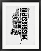 Framed Mississippi Word Cloud 2