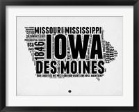 Framed Iowa Word Cloud 2