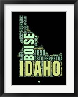 Framed Idaho Word Cloud 1