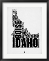 Framed Idaho Word Cloud 2