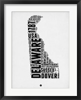 Framed Delaware Word Cloud 2