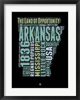 Framed Arkansas Word Cloud 1