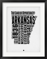 Framed Arkansas Word Cloud 2