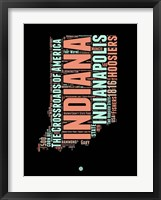 Framed Indiana Word Cloud 1