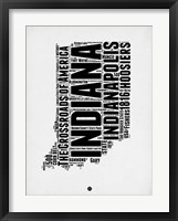 Framed Indiana Word Cloud 2