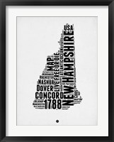 Framed New Hampshire Word Cloud 2