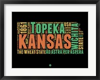 Framed Kansas Word Cloud 1