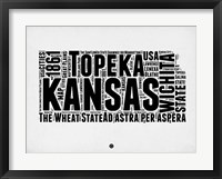 Framed Kansas Word Cloud 2