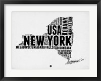 Framed New York Word Cloud 2