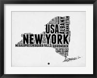 Framed New York Word Cloud 2