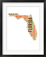 Framed Florida Word Cloud Map