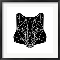 Framed Black Fox