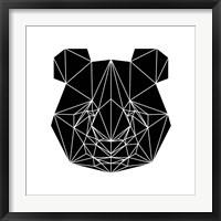 Framed Black Panda