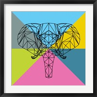 Framed Party Elephant Polygon 2