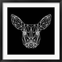 Framed Baby Deer Polygon
