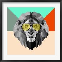 Framed Party Lion in Glasses