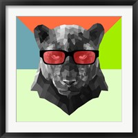 Framed Party Panther in Red Glasses