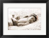 Framed Baby in White