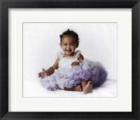 Framed Sassie Baby Purple