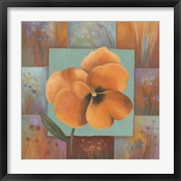 Orange Patchwork Framed Print