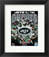 Framed New York Jets All Time Greats Composite