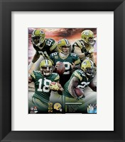 Framed Green Bay Packers 2015 Team Composite