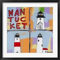 Framed Nantucket Lighthouses