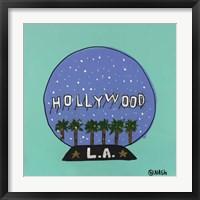 Framed L.A. Snow Globe