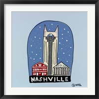 Framed Nashville Snow Globe