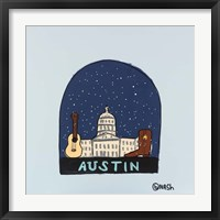 Framed Austin Snow Globe