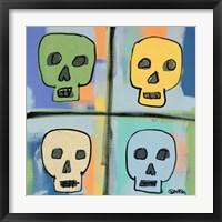 Framed Four Skulls